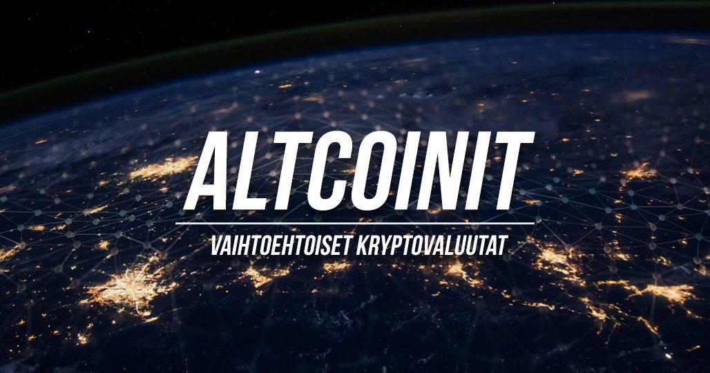 altcoinit - vaihtoehtoiset kryptovaluutat