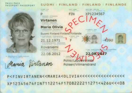 Esimerkki passin kuvaamisesta