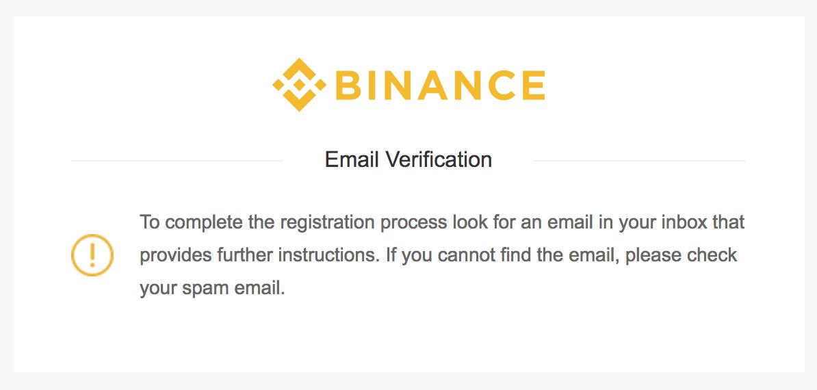 Binance email vahvistuksen rekisteröinti