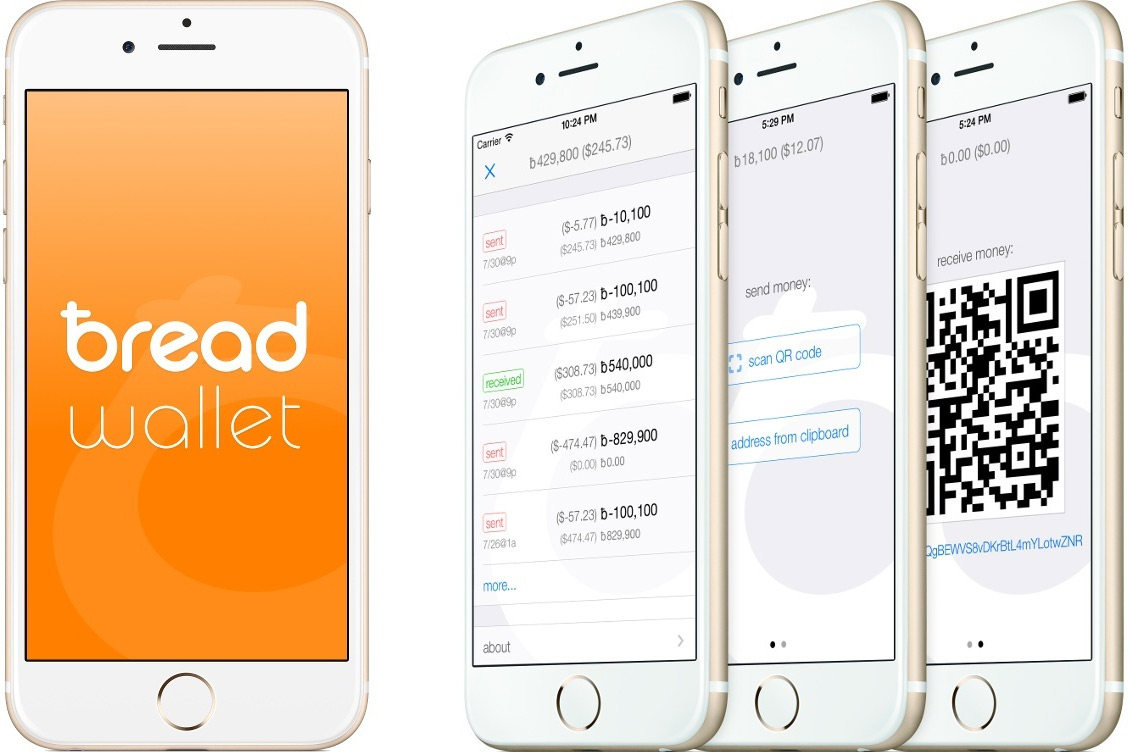 Esimerkkikuva Bearwalletista iOS puhelimeen