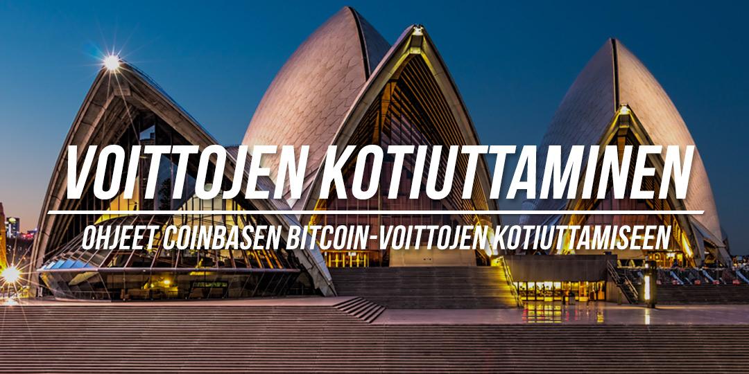 Kryptovaluuttasijoitusten voittojen kotiuttaminen Coinbasessa
