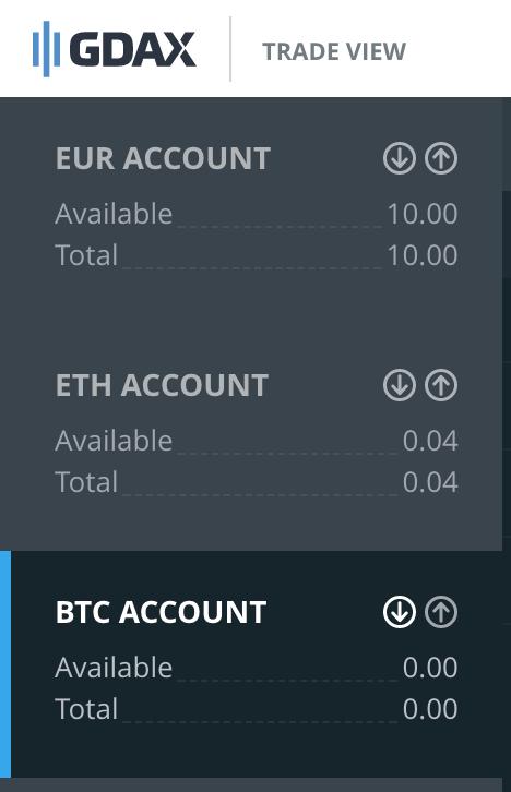 Tarkasta valuutan Deposit-address klikaamalla alaspäin osoittavaa nuolta
