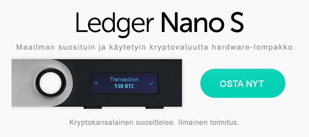 Kuva Ledger Nano S:tä